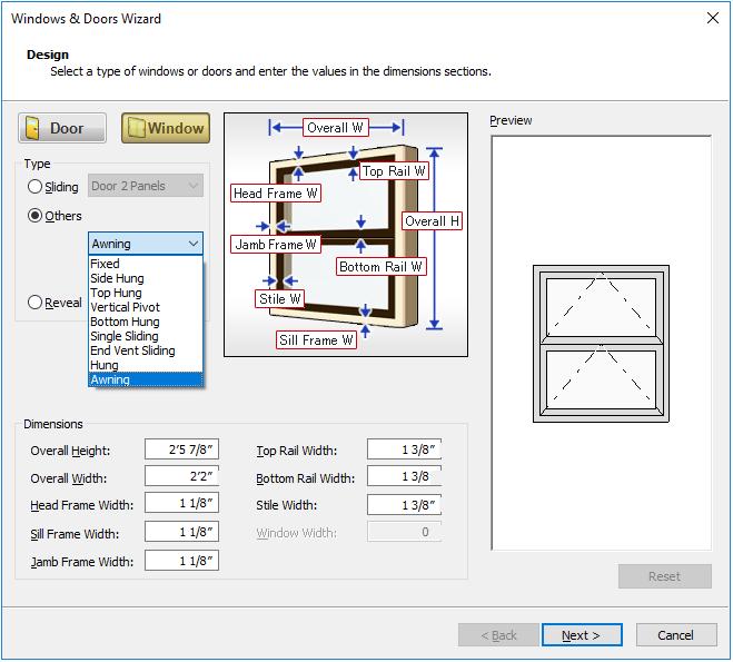 Window And Door Wizard Features 3d Archi Designer 10